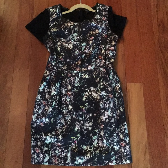 7d0c8892c340 Club Monaco Dresses   Skirts - Club Monaco cosmic pattern leather-pipped  dress